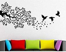 Wall Sticker Branch Wall Decal Branch Flying Bird