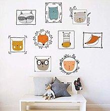 Wall Sticker Cute Animal Portraits Photo Frame