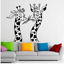 Wall Sticker Decal Mural Two Giraffe Wall Stickers