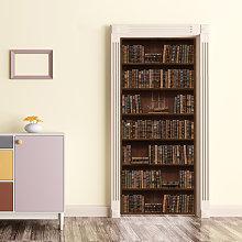 Wall Sticker Decal Vintage Bookshelf Library