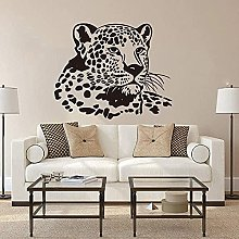 Wall Sticker Decals Leopard Head Big Cat Animal
