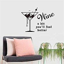 Wall Sticker English Rumor Wine Wall Sticker