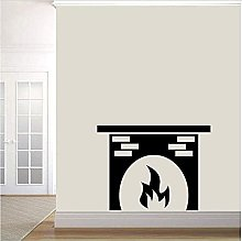 Wall Sticker Fireplace Removable Art Deco Home