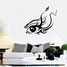 Wall Sticker Flower Eyelashes Abstract Tree