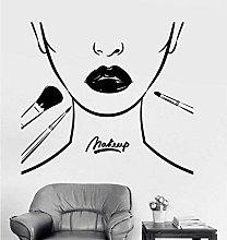 Wall Sticker Makeup School Artist Lips Removable