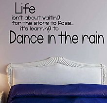 Wall Sticker Poster Design in The rain Quotes