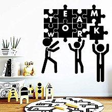 Wall Stickers Carved Teamwork Vinyl Wallpaper Roll