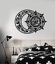 Wall Stickers Decals Ethnic Style Crescent and Sun