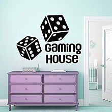 Wall Stickers Game House Wall Decal Dice Game