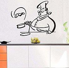 Wall Stickers Home Decor Wallpaper Kitchen Chef