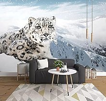 Wall Stickers Living Room Animal Leopard Snow