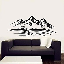 Wall Stickers Mountains Rock Climbing Forest Home