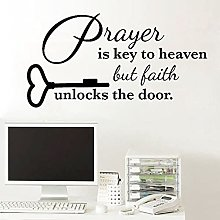 Wall Stickers Room Decoration Text Prayer is The