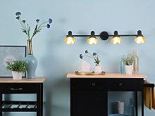 Wall Track Light Black Metal 4-Light Lamp Swing