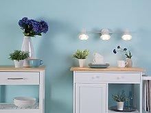 Wall Track Light White Metal 3-Light Lamp Swing