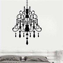 Wall Vinyl Decal Chandelier Bedroom Romantic Light