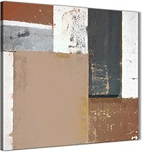 Wallfillers Brown Beige Grey Abstract Painting