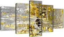 Wallfillers Extra Large Yellow Abstract Painting
