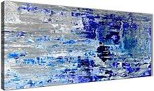 Wallfillers Indigo Blue Grey Abstract Painting