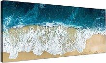 Wallfillers Large Blue Beach Canvas Print -