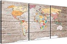 Wallfillers Large Decorative Map of World Atlas