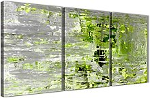Wallfillers Lime Green Grey Abstract Painting Wall