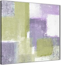 Wallfillers Lime Green Purple Abstract Painting