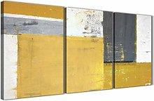 Wallfillers Mustard Yellow Grey Abstract Painting