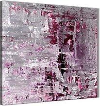 Wallfillers Plum Grey Abstract Painting Wall Art