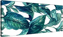 Wallfillers Teal Blue Green Tropical Exotic Leaves