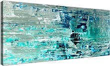 Wallfillers Turquoise Teal Abstract Painting Wall