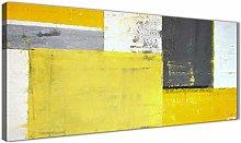 Wallfillers Yellow Grey Abstract Painting Canvas