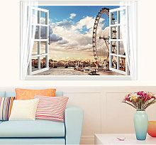 Walling Wallpaper Sea Window 60 * 90cm Glue