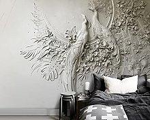 WALLPACL Photo Mural Wallpaper 3D Peacock Tv Sofa