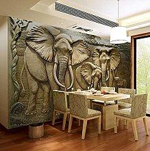 WALLPACL Photo Mural Wallpaper 3D Stereo Elephant