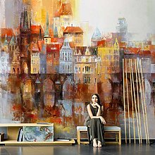 WALLPACL Photo Mural Wallpaper Abstract Oil