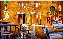 Wallpaper 3D Decoration Murals Wall 3D Retro Bar
