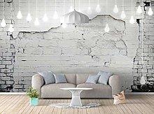Wallpaper 3D Effect Chandelier Brick Wall Retro