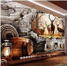Wallpaper 3D European Country Bar Sofa Background