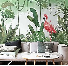 Wallpaper 3D Flamingo Mural Living Room Bedroom
