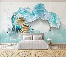 Wallpaper 3D Goldfish DIY Living Room Bedroom