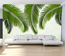 Wallpaper 3D Leaf Sofa Background Wall-430Cmx300Cm