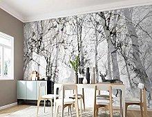 Wallpaper 3D Nordic Forest Elk Tv Sofa Background