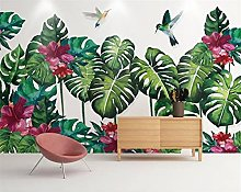 Wallpaper 3D Original Forest Plants Watercolor