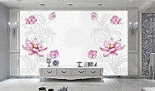 Wallpaper 3D Seiyaflu Live Flower Background Wall