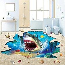 Wallpaper 3D Theme Shark Underwater Non-Slip