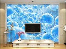 Wallpaper 3D Underwater World Jellyfish Blue Tv