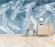 Wallpaper 3D Wallpapers Non-Woven Wall Paper Blue