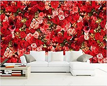 Wallpaper 3D Wallpapers Non-Woven Wall Paper Red