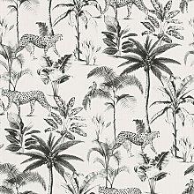 Wallpaper 409017 Exotic Cheetah White and Black -